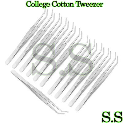 12 College Cotton Plier Dental Endodontic Instruments 6 Without Lock