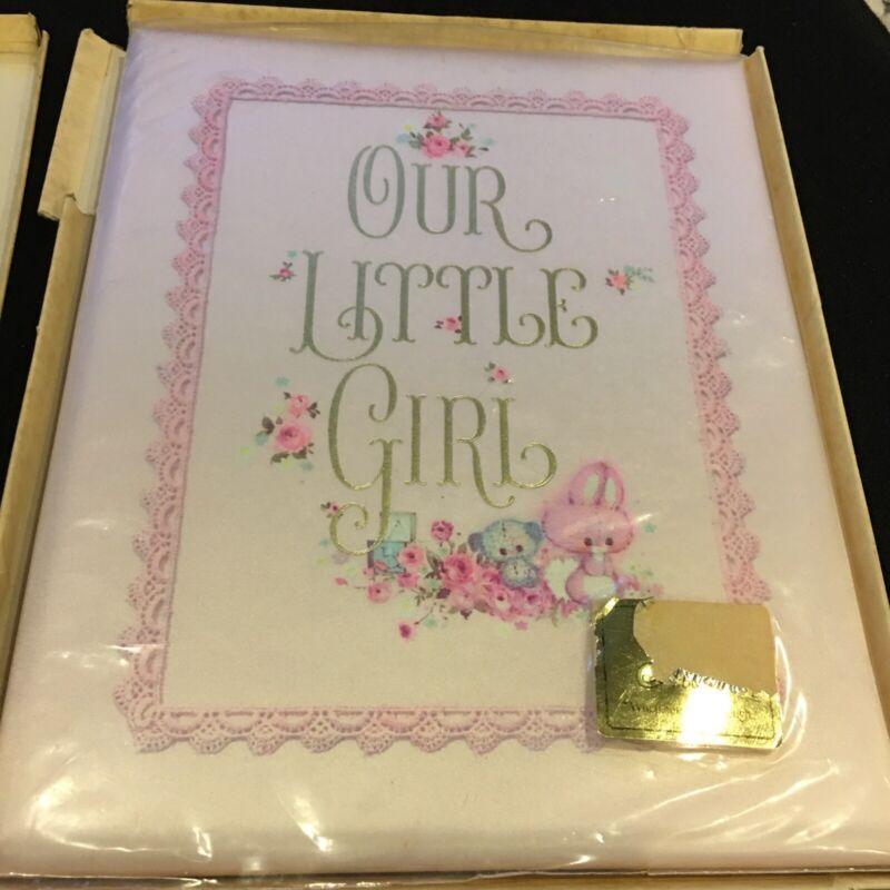 Vintage 1969 Hallmark OUR LITTLE GIRL Baby Album Keepsake Book Original Box