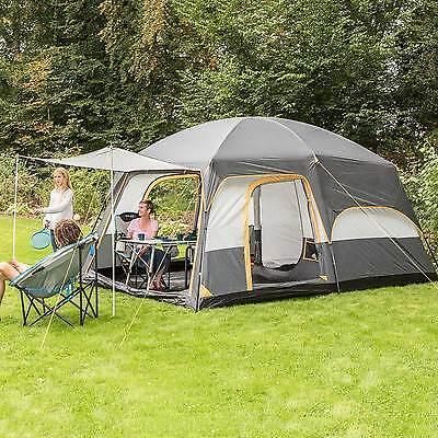 skandika Tønsberg 5 Personen Familienzelt Campingzelt grau NEU