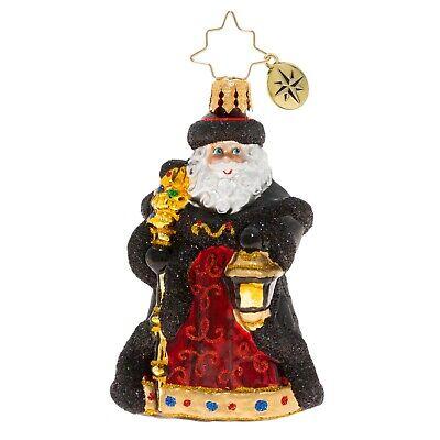 [NEW Christopher Radko EBONY CLAD MR. CLAUS Christmas Ornament 1020255 Little Gem</Title]