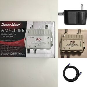 Channel Master Cable TV Antenna Distribution Amplifier Booster