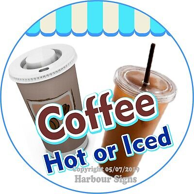 Coffee Decal Choose Your Size Concession Food Truck Vinyl Circle Sticker