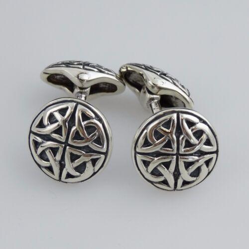 Celtic Cufflinks - 925 Sterling Silver - Trinity Knot Triquetra Men
