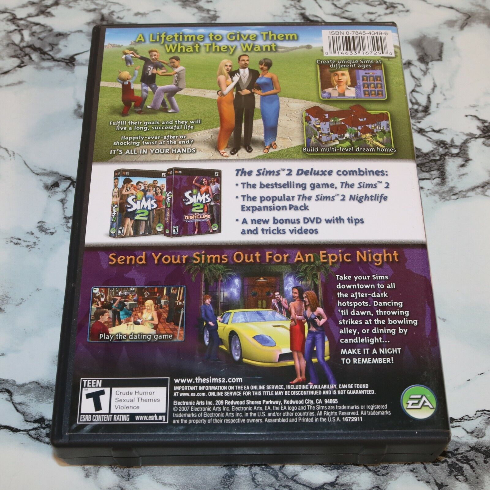 The Sims 2 Two Deluxe PC DVD-ROM -- Complete W/ Manual Key Bonus DVD - $11.18