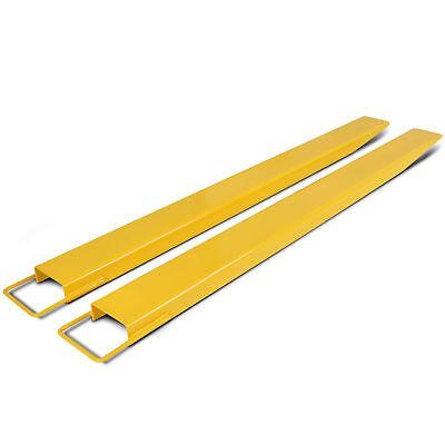 72 X 5.5 Pallet Fork Extensions For Forklift Lift Truck Slide On Clamp 5.5