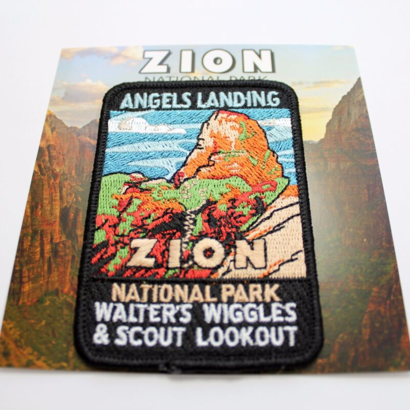 Official Zion National Park Souvenir Patch Angels Landing Utah Walter