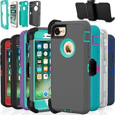 Belt Clip Holster Case (Protective Shockproof Belt Clip Holster Case Cover For Apple iPhone 7 / 8 / Plus )