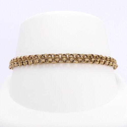 Victorian 10k Gold Double Cable Link Chain Bracelet