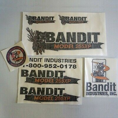 Brush Bandit Wood Chipper Model 255xp Sticker Decal Kit - New