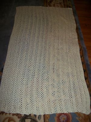 """LOVELY  HAND CROCHET BABY BLANKET AFGHAN  SIZE 36"""" x 68"""" INCHES L@@K  *"""