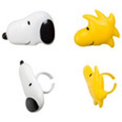 12 Snoopy and Woodstock Peanuts Cupcake Rings Toppers Party Favors (Snoopy Cupcakes)