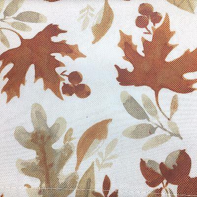 Nicole Miller Fall Leaves Acorn Tablecloth 60x84 Fabric Cloth Orange Tan Autumn](Orange Table Cloth)