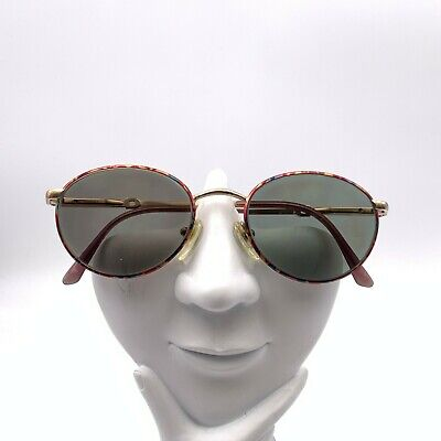 Vintage Gucci Multi-Color Metal Oval Sunglasses Italy FRAME ONLY