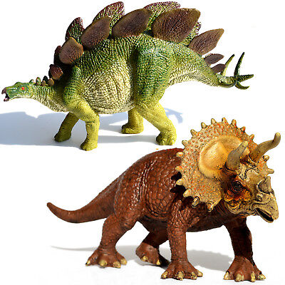 Large Stegosaurus   Triceratops Dinosaurs Figure Educational Toy Model Birthday