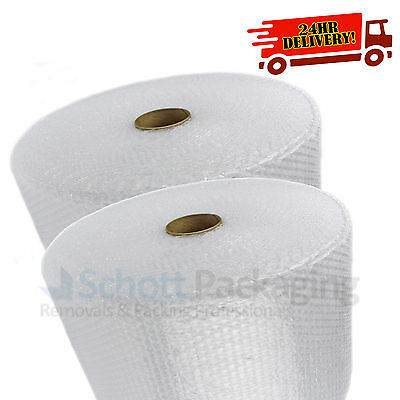 2 x 500mm x 100m Roll of Quality CUSHION SMALL BUBBLE WRAP CHEAP
