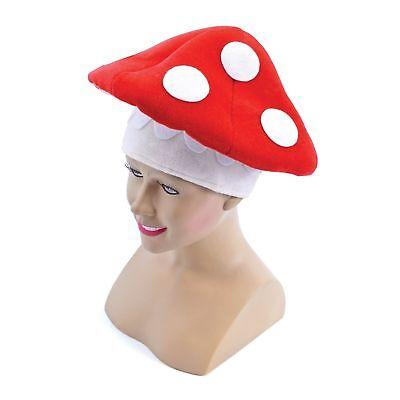 RETRO FAIRYTALE FANTASY MARIO TOAD STOOL HAT - mens ladies fancy dress accessory - Toad Mario Hat