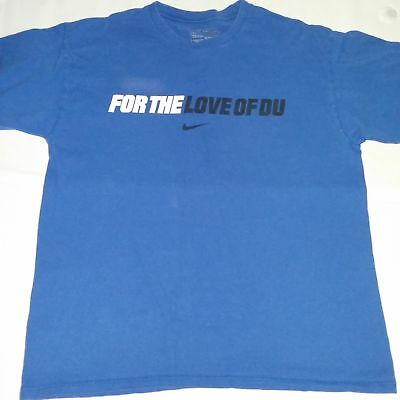 - Mens Nike Duke Blue Devils T Shirt Size Large For the Love of DU Cotton