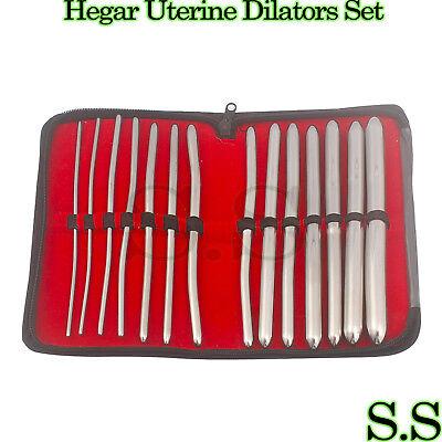 Hegar Uterine Dilators Set Of 14 Pcs Gynecology
