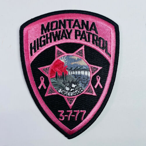 Montana Highway Patrol Pink Breast Cancer Patch