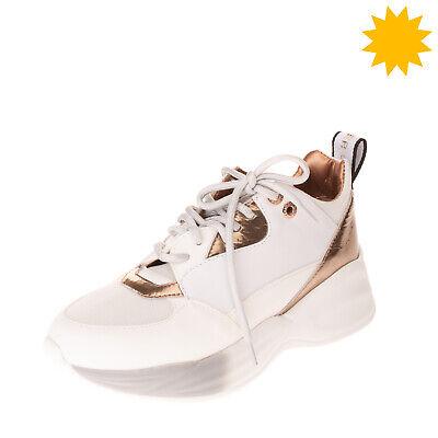 RRP €200 ALEXANDER SMITH Leather Sneakers Size 39 UK 6 US 9 Mesh Metallic Effect