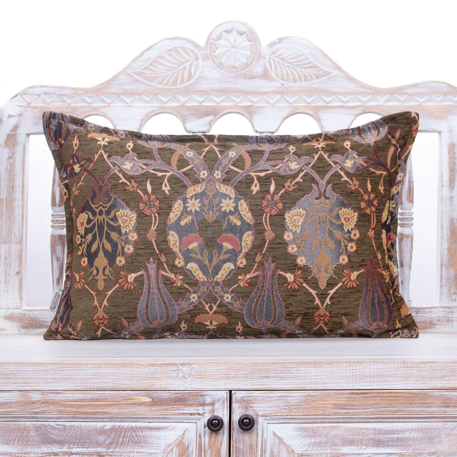 Decorative Green Lumbar Throw Pillows Tulip Garden Design Wo
