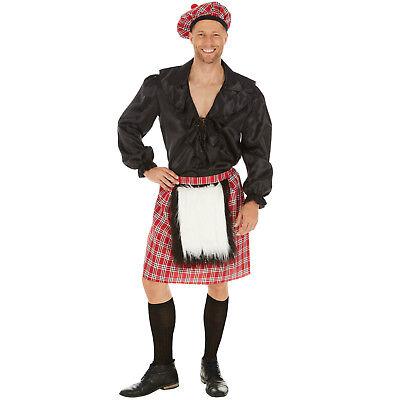Herrenkostüm Schotte Karneval Fasching Halloween Männer Mann Schottland - Herren Kilt Kostüm