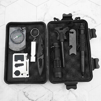 9in1 Überlebensset Survival Kit Werkzeug Krisenvorsorge Notfall Outdoor