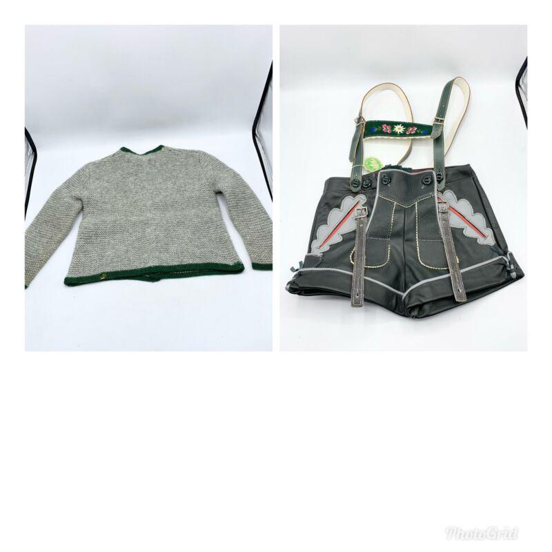 Vintage German Leider Hosen Toddlers Frankenwald Vollrind 1 Jumpsuit Outfit