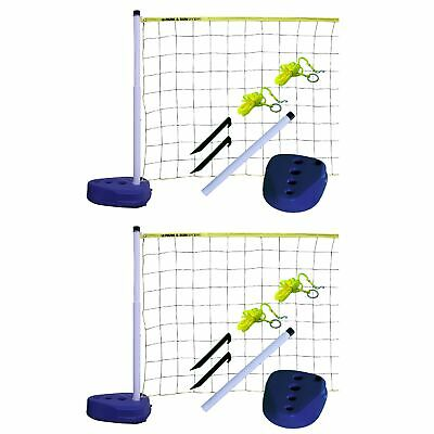 Park & Sun Sports Portable Indoor Outdoor Pool Volleyball Net Play Set (2 Pack)