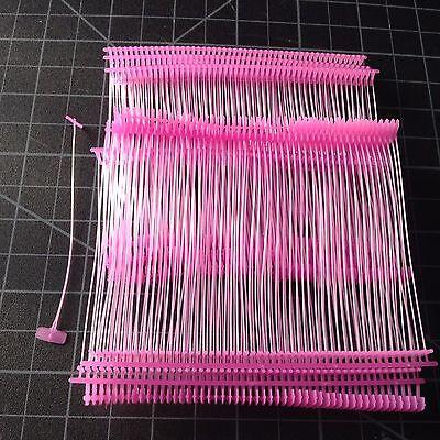 """1000pcs 3"""" pink Standard Tag Pins Regular Tag Barbs Tagging Gun Fasteners"""