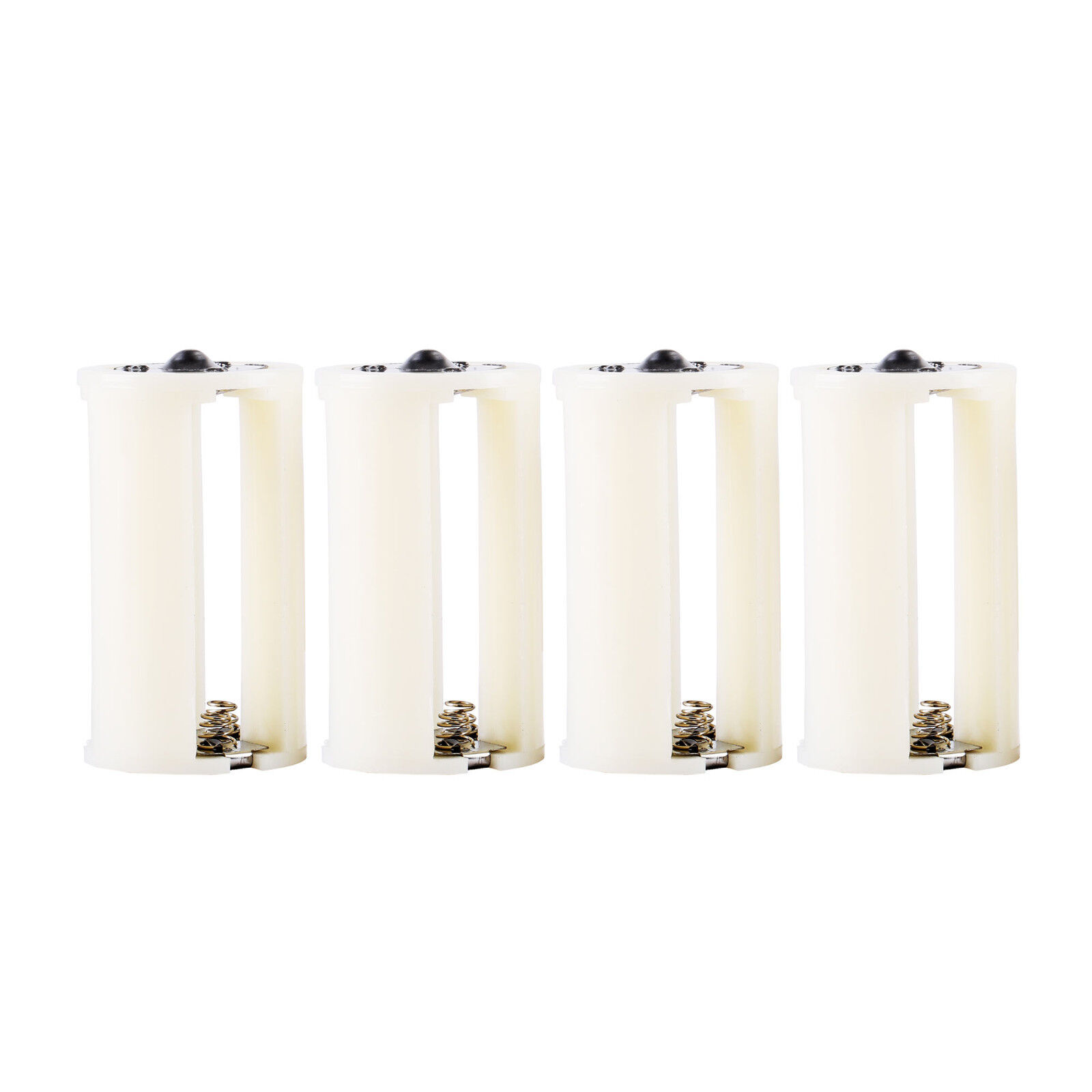 AA to Size D Battery Adapters Converter Cases Plastic Parallel White 8 Pcs Battery Converters