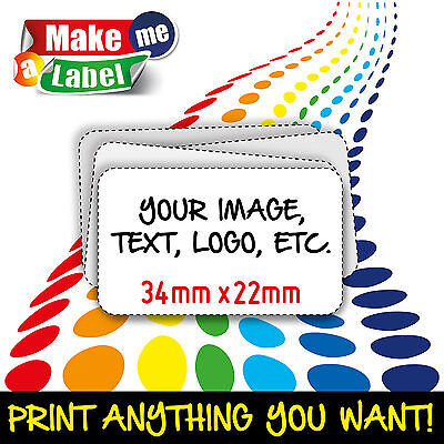 Rectangle Self Adhesive & Custom Printed Full Colour Sticky Labels - Small Coloured Self Adhesive Labels