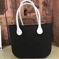 Borsa O Bag Mini Nera+manici Eco Pelle Lunghi Bianchi - bianchi - ebay.it