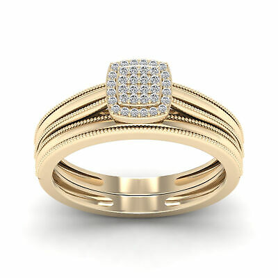 Tdw Diamond Promise Ring - 10k Yellow Gold 1/10ct TDW Diamond Promise Ring