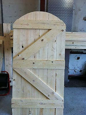 solid wooden garden gate