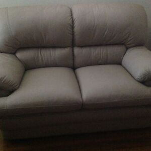 Leather Bone Two Seater Lounge Shellharbour Area Preview