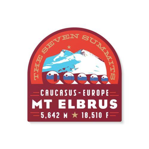 Mt. Elbrus Seven Summits Mountain Decal Sticker