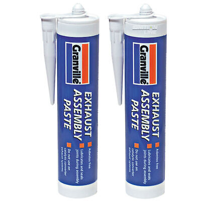 2 x Exhaust Assembly Paste Repair Putty Sealant Jointing Gun Cartridge Tube 500g