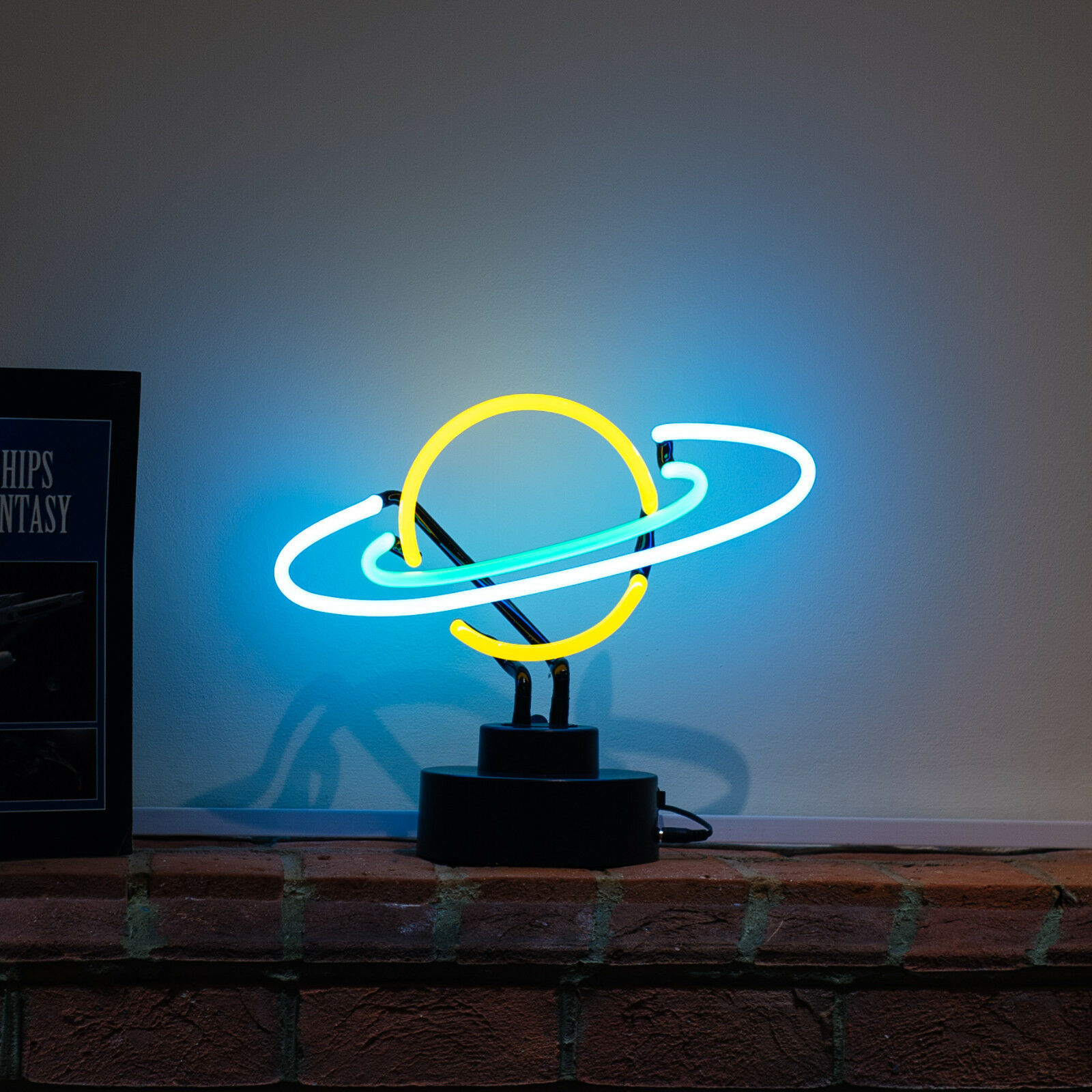 Lampade Al Neon Da Parete dettagli su neon luce in saturno insegna comodino lampada da lettura  astronomy regalo 31cm