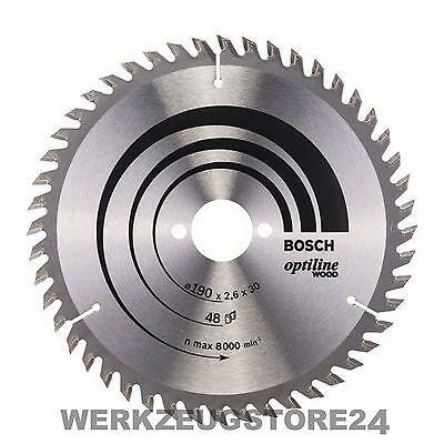 Bosch Kreissägeblatt Optiline Wood 190x30x2,6/1,6 mm 48T WZ 2608640617