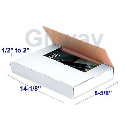 50 Set 14 18 X 8 58 X 2 Multi Depth Cardboard Book Mailer Shipping Box Boxes