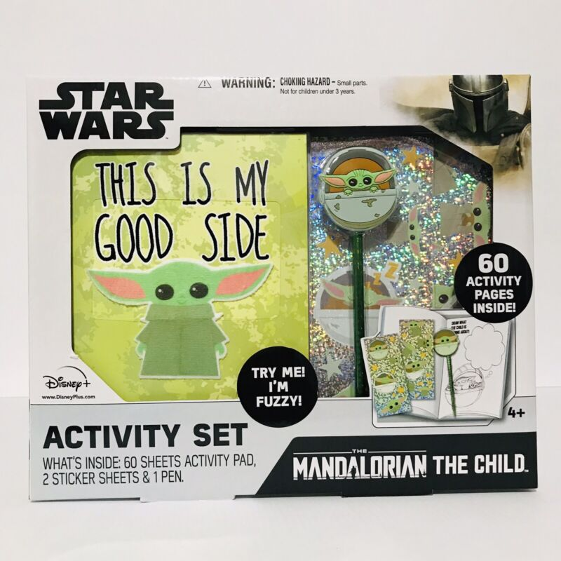DISNEY STAR WARS THE MANDALORIAN CHILD ACTIVITY SET 60 ACTIVITY PAGES INSIDE NEW
