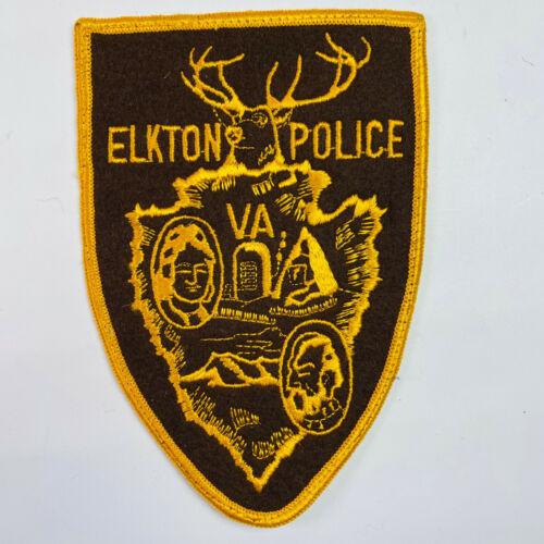 Elkton Police Rockingham County Virginia VA Wool Felt Patch (A4)