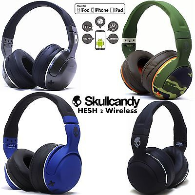New Skullcandy Hesh 2 Bluetooth 4 0 Wireless Headphones Headset Blue Camo White