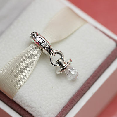 Pacifier Charm Jewelry - * Authentic Pandora PACIFIER Bead 791890CZ Baby Boy Girl MoM Charm