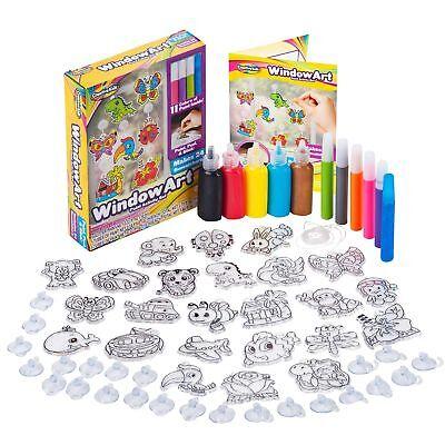 Window Paint Art Stickers Kit Kids – Children's Make Your Own Fun Suncatchers