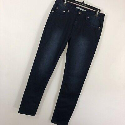Woolrich 6 Jeans Dark Blue Wash Mid Rise Slim Leg Cotton Blend Stretch -