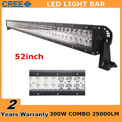 """52"""" inch 300W CREE LED Light Bar Offroad Driving Combo Lamp Fog 4WD Jeep Truck"""