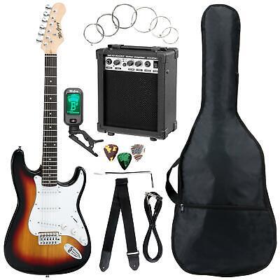Set Guitarra Electrica Amplificador Bolsa Cuerdas Cable Sintonizador Sunburst