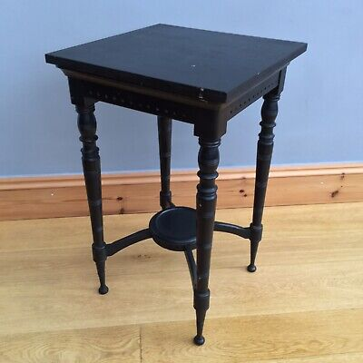 Aesthetics Movement Occasional Side Table Antique Victorian Old Ebonised Stand